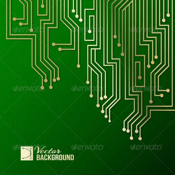 Abstract Circuit Background. - Web Technology