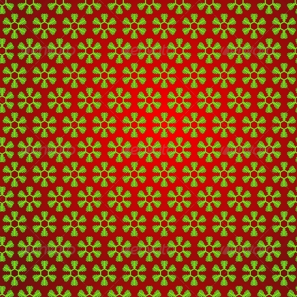 Vector Seamless Snowflake Pattern - Christmas Seasons/Holidays