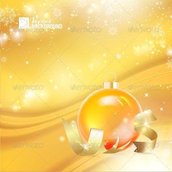 Christmas Toy with Ribbon - Christmas Seasons/Holidays