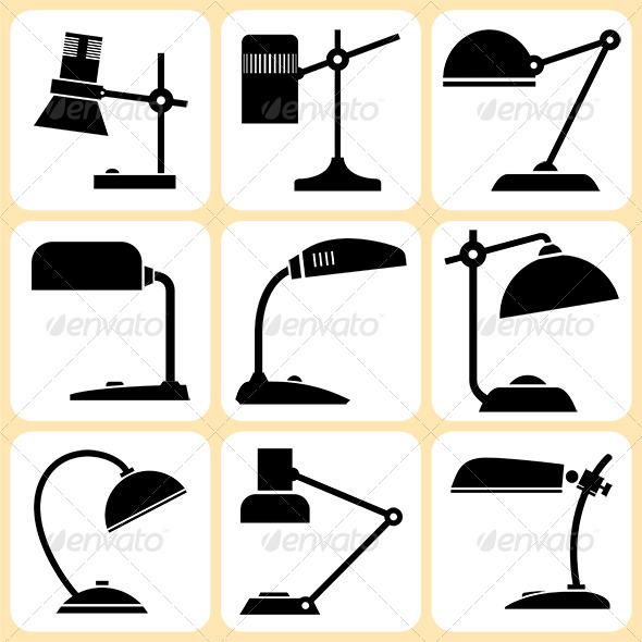 Lamps Set - Objects Vectors