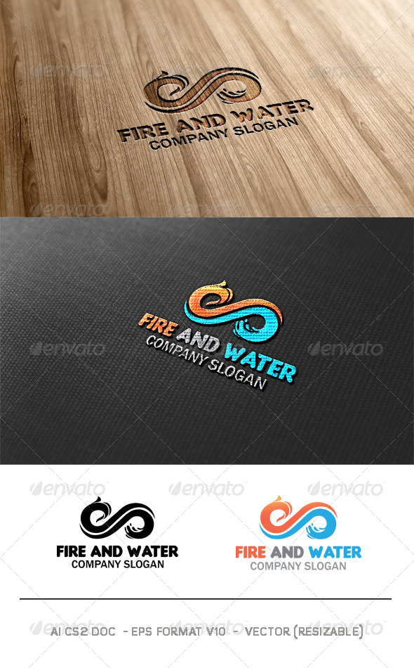 Fire And Water Logo - Symbols Logo Templates
