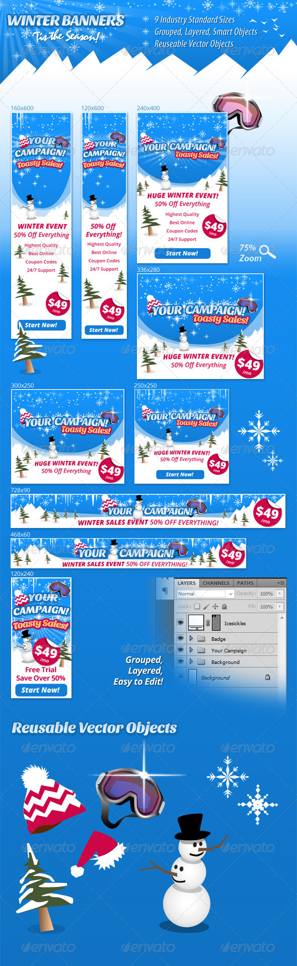 Winter Banners - Banners & Ads Web Elements
