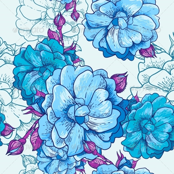 Beautiful Seamless Floral Background - Patterns Decorative