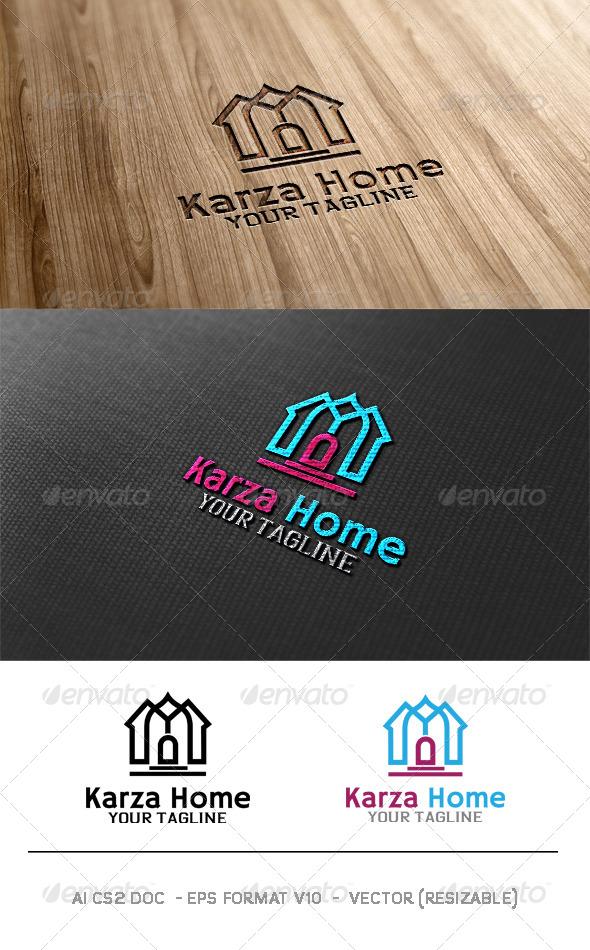 Karza Home Logo  - Buildings Logo Templates
