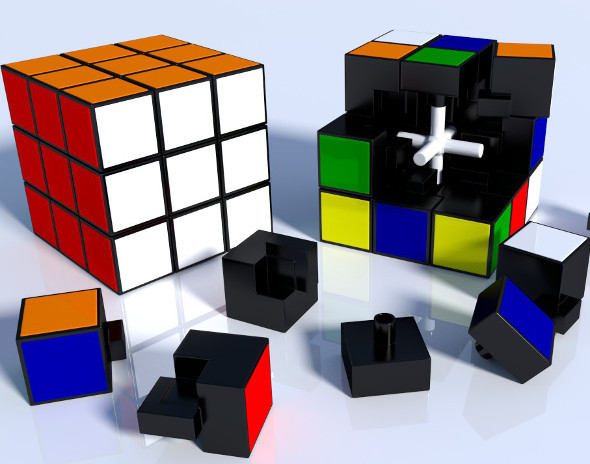 Rubik Cube High Detail - 3DOcean Item for Sale