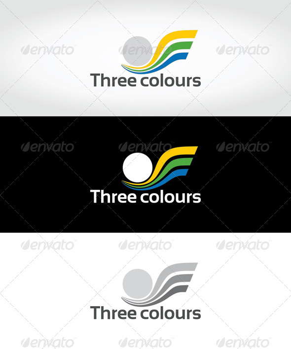 Three colours - Symbols Logo Templates
