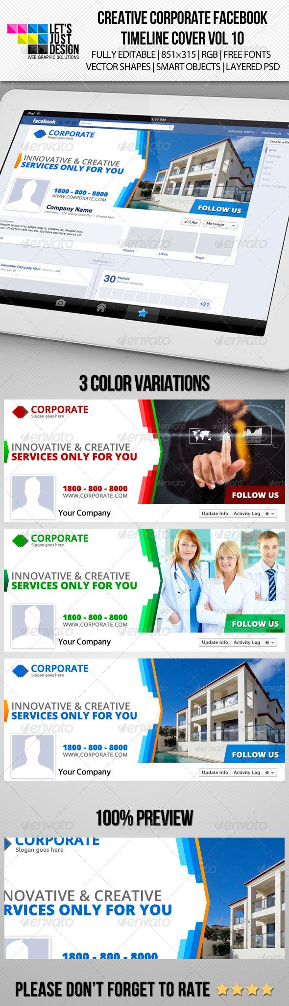 Creative Corporate Facebook Timeline Cover Vol 10 - Facebook Timeline Covers Social Media