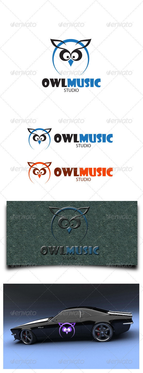 Owl Music Studio - Animals Logo Templates