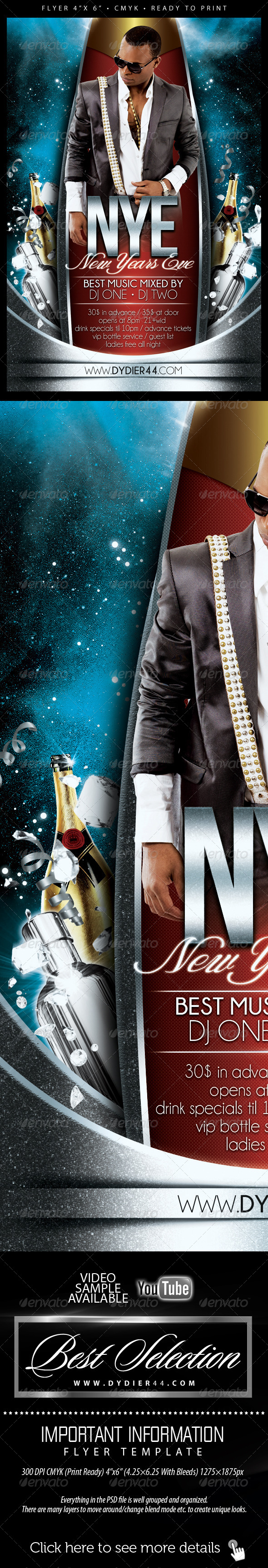 New Years Eve (Flyer Template 4x6) - Events Flyers