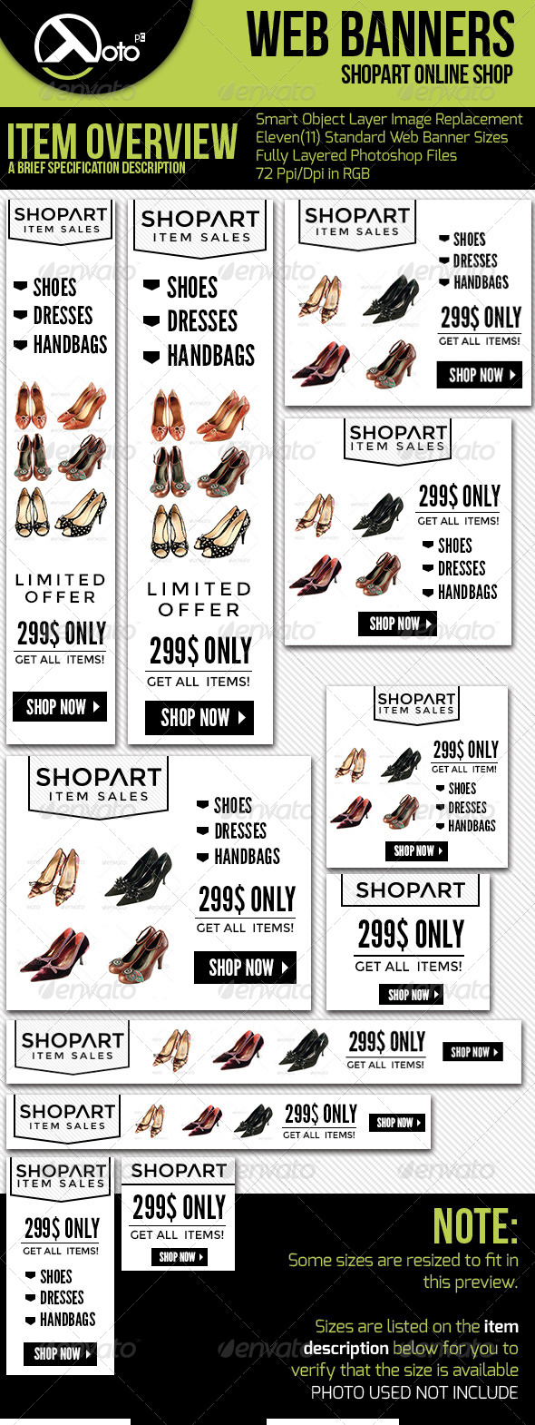 ShopArt Online Shopping Web Banners - Banners & Ads Web Elements