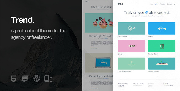 Trend - Responsive WordPress Theme - Personal Blog / Magazine