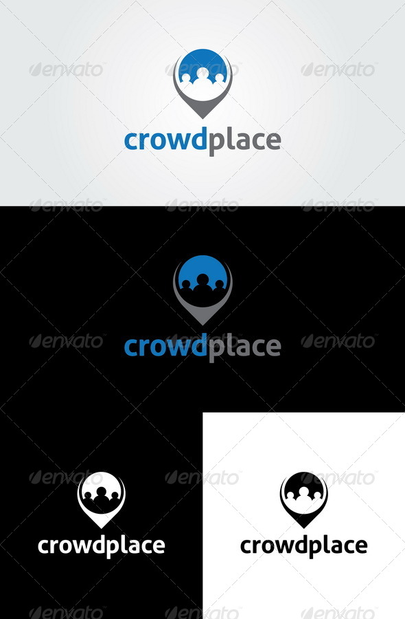 Crowd Place Logo Template - Humans Logo Templates