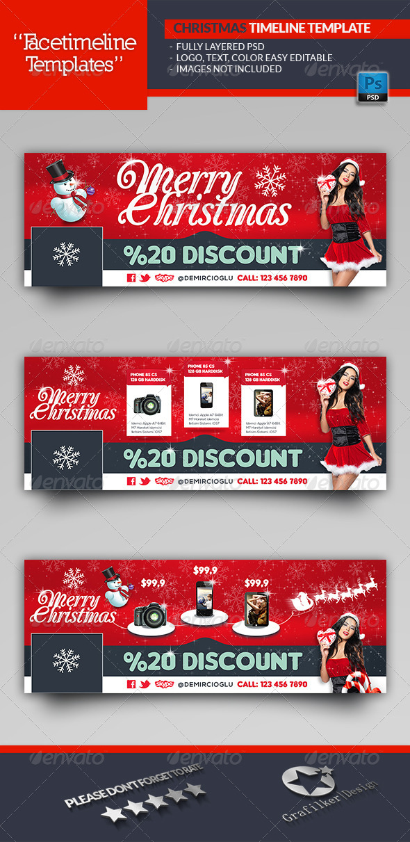 Christmas Discount Timeline Template - Facebook Timeline Covers Social Media