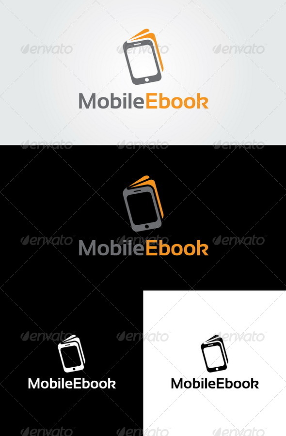 Mobile Ebook Logo Template - Symbols Logo Templates