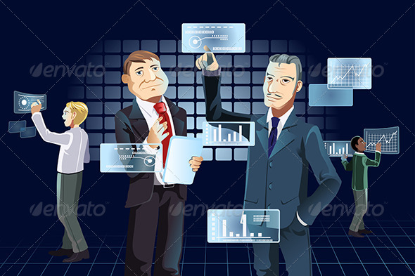 Businessmen and New Technology - Business Conceptual