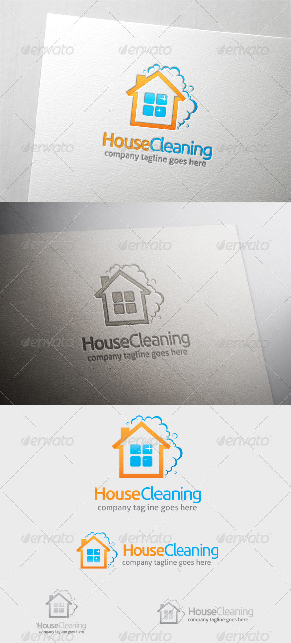 House Cleaning Logo - Buildings Logo Templates