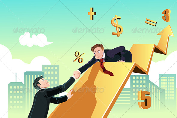 Businessman Helping - Business Conceptual