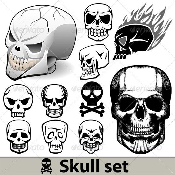 Skulls Set - Miscellaneous Vectors