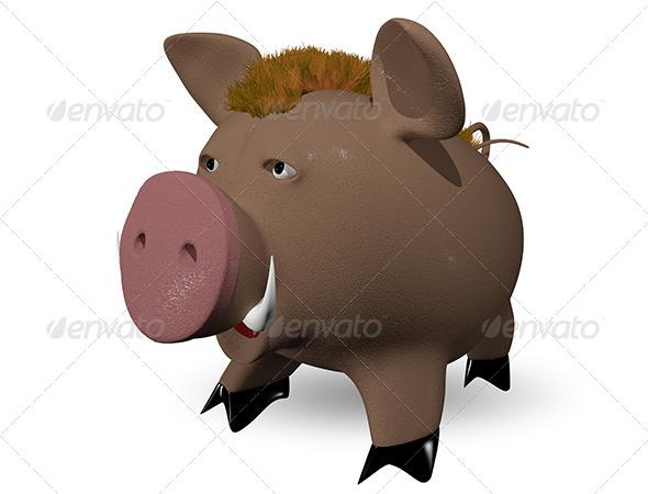 wild boar - Characters 3D Renders