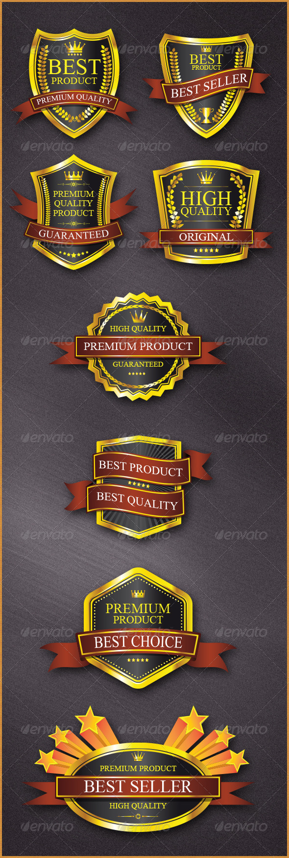 Badges Design - Decorative Vectors