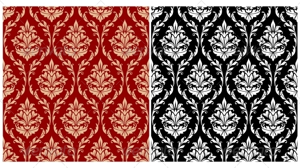 Damask Seamless Pattern Background - Patterns Decorative