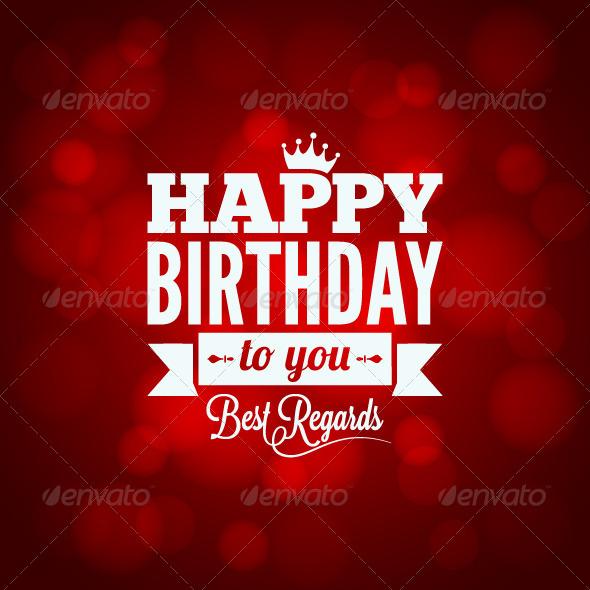 Happy Birthday Sign Design Background - Birthdays Seasons/Holidays