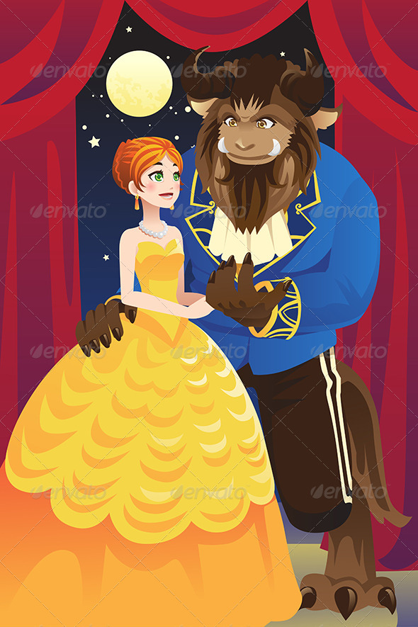 Beauty and the Beast - Characters Vectors