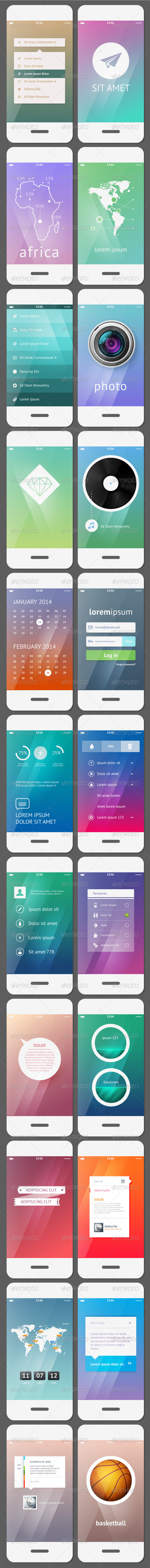 Mobile User Interface Template - Communications Technology