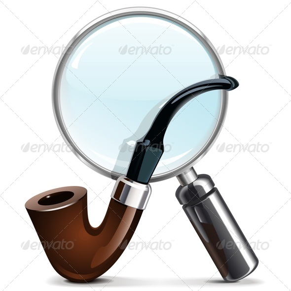 Vector Tobacco Pipe and Loupe - Concepts Business