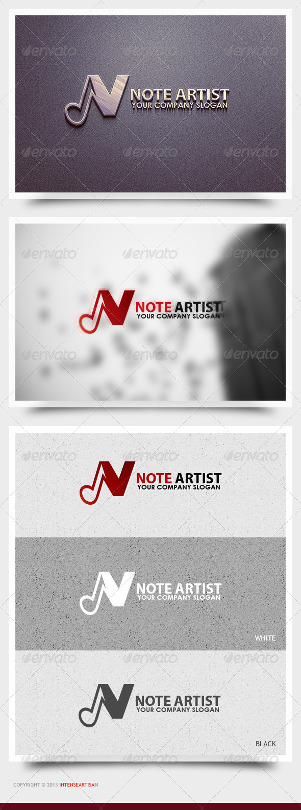 Note Artist Logo Template - Objects Logo Templates