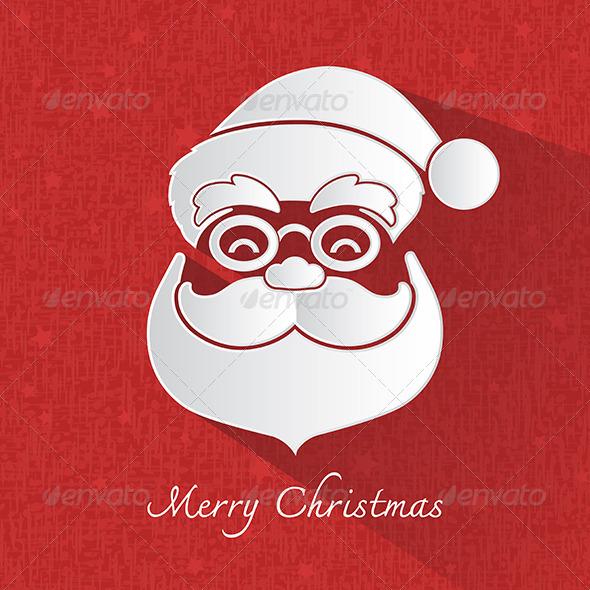 Santa Claus Head Symbol - Christmas Seasons/Holidays
