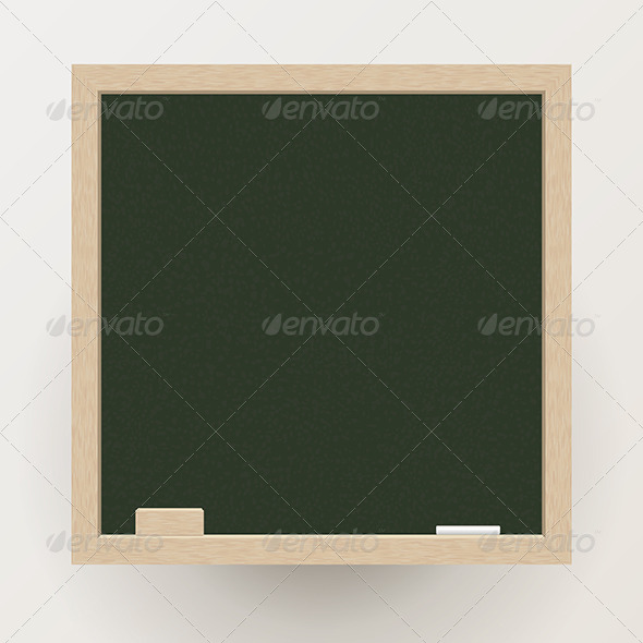 Blackboard with Chalk and Eraser - Communications Technology
