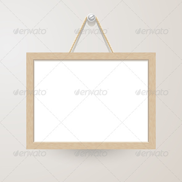 White Board Hanging on a Nail - Backgrounds Decorative