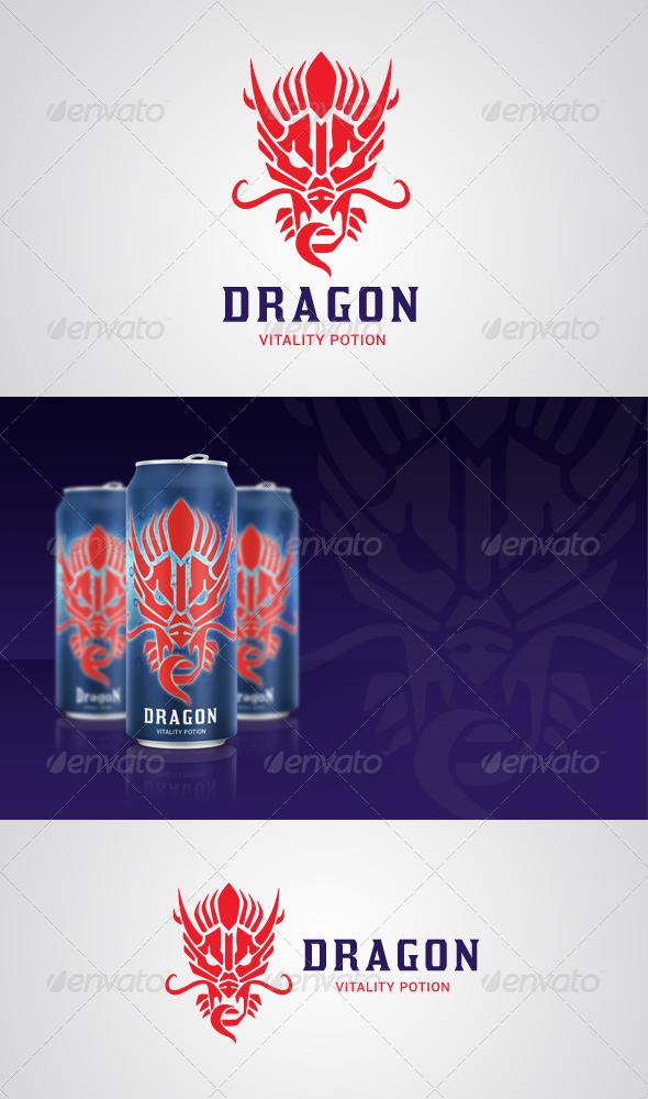 Dragon Vitality Potion Logo - Animals Logo Templates