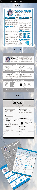 Resume Bundle Vol.1 - Resumes Stationery