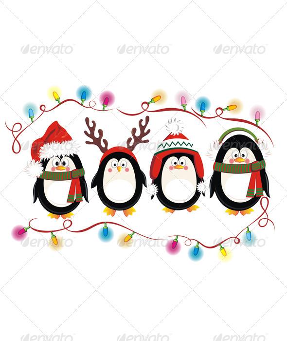 Christmas Penguins - Christmas Seasons/Holidays