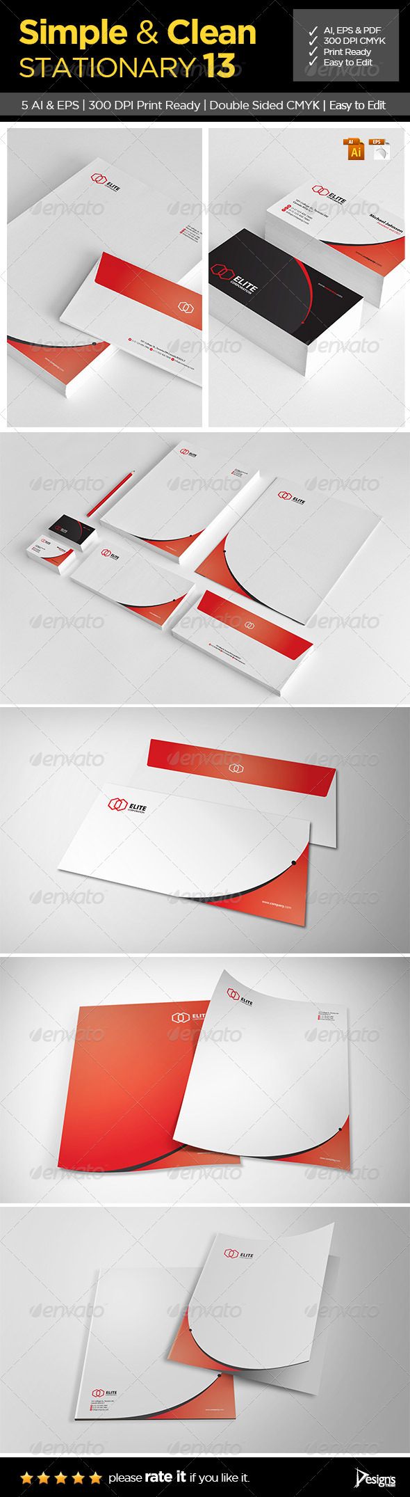 Simple and Clean Stationary 13 - Stationery Print Templates