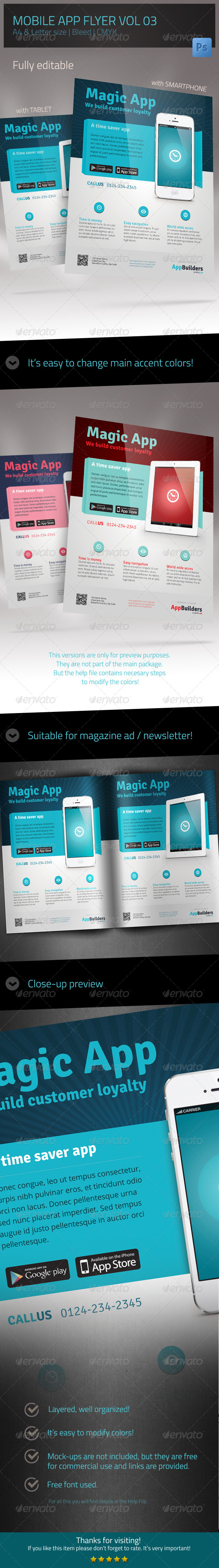 Mobile App Flyer V03 - Clubs & Parties Events