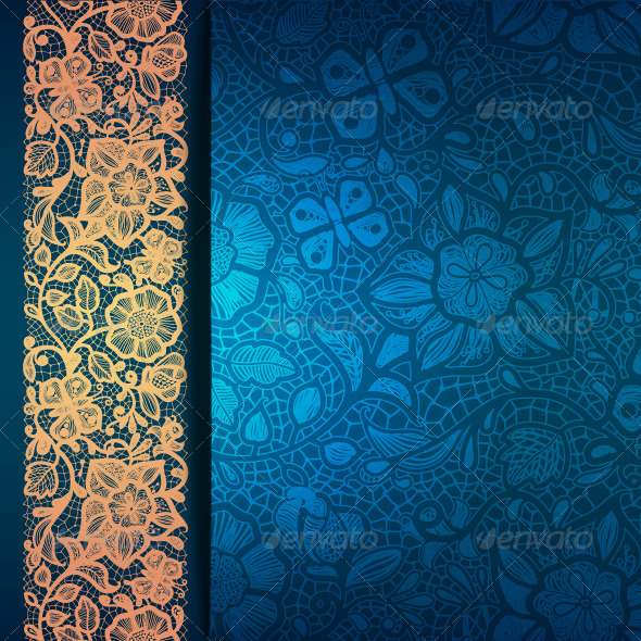 Abstract Greeting Card Background with Flowers - Backgrounds Decorative
