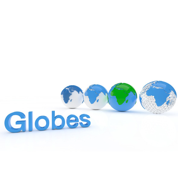 Globes - 3DOcean Item for Sale