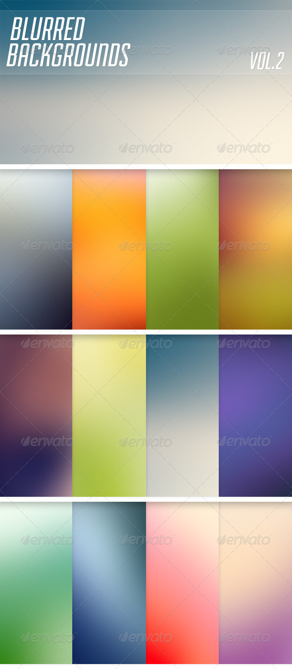 Blurred Backgrounds Vol2 - Abstract Backgrounds