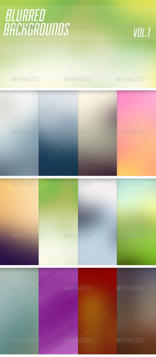 Blurred Backgrounds Vol1 - Abstract Backgrounds
