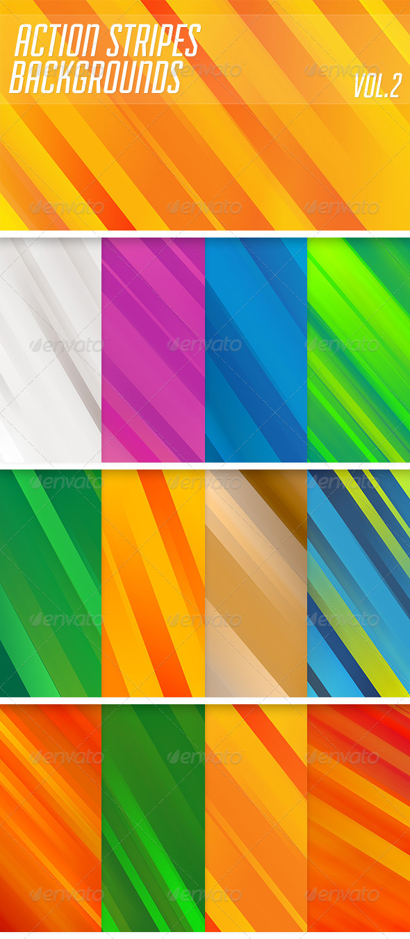 Action Stripes Backgrounds Vol2 - Abstract Backgrounds