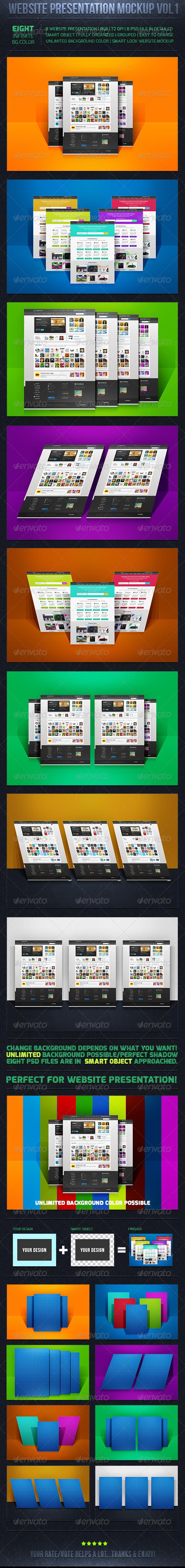 Web Presentation Mockup Vol-1 - Website Displays