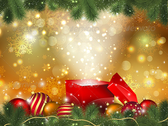 Christmas gift background by kjpargeter graphicriver christmas gift background negle Images
