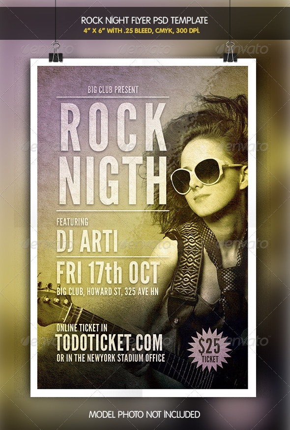 Rock Night | Flyer Template - Concerts Events