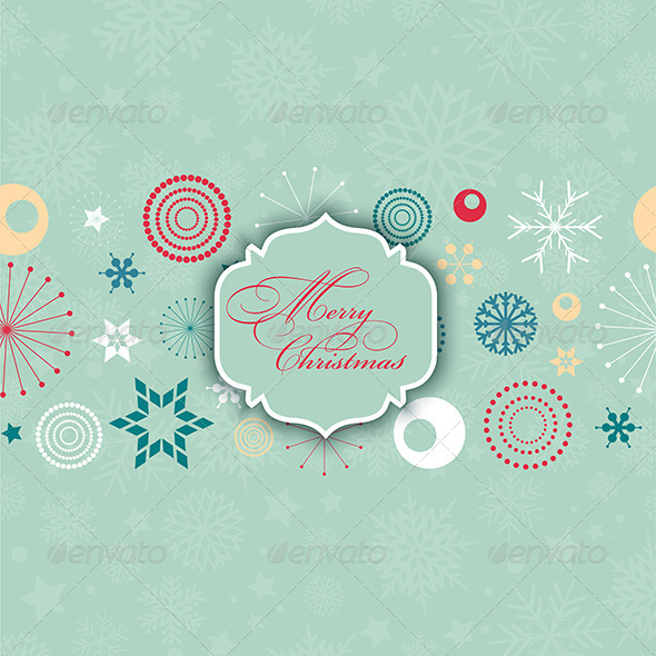 Retro Christmas Background - Christmas Seasons/Holidays