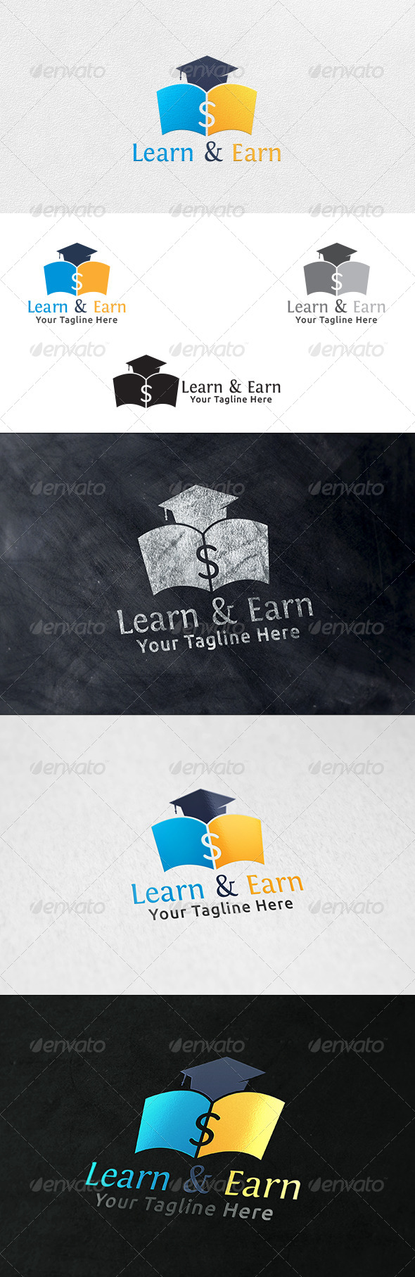Learn and Earn - Logo Template - Symbols Logo Templates