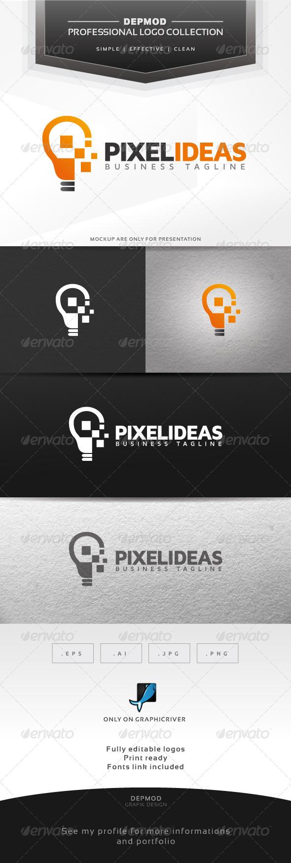 Pixel Ideas Logo - Symbols Logo Templates