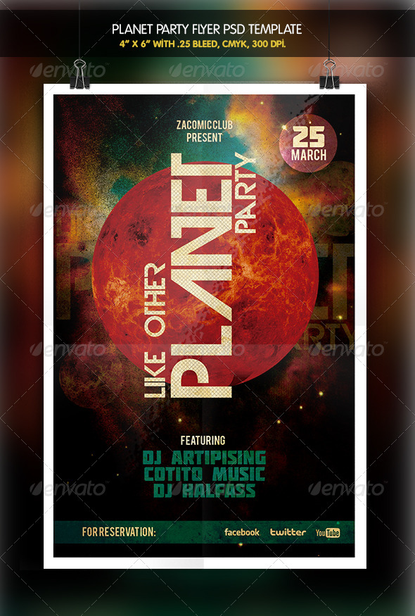 Planet Party Flyer - Clubs & Parties Events